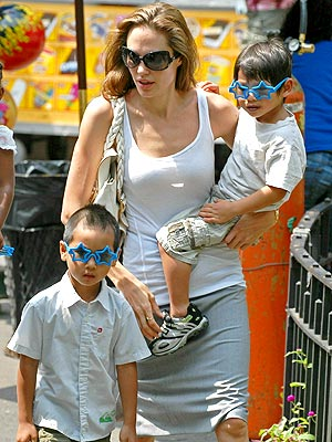 Angelina and sons