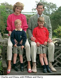 Charles and Diana and William and Harry