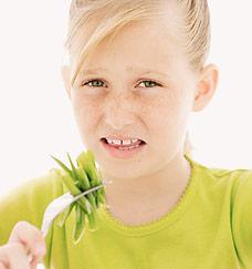 No green veggies!