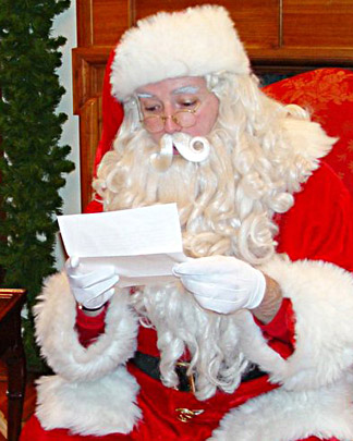 Santa reacts in shock! PVC pipe?