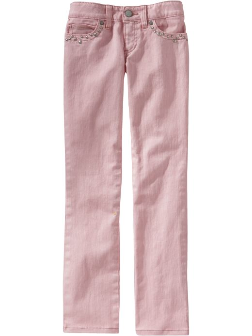 Pink jeans! Cute!
