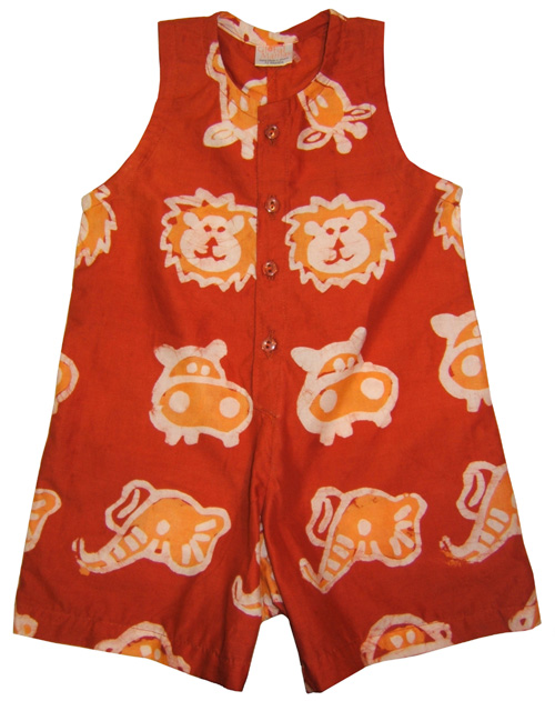 Safari Button-Up Romper for Babies