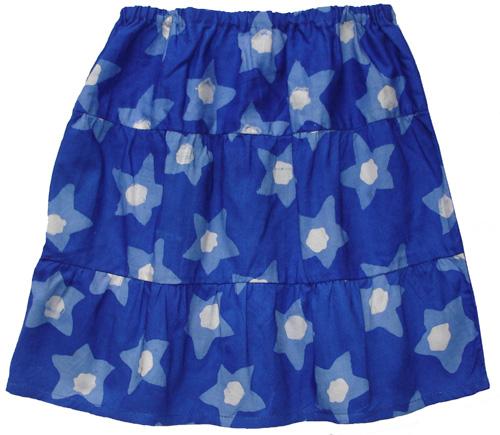 Blue Stars Skirt for Girls