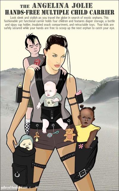 Angelina Jolie orphan carrier