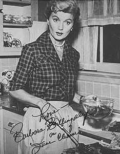 June Cleaver, with apron!