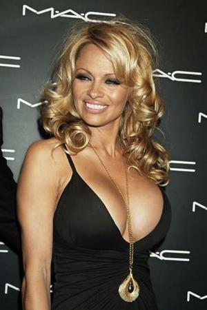 Pam Anderson and her money bags