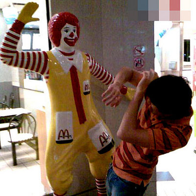 Ronald McDonald attacks!