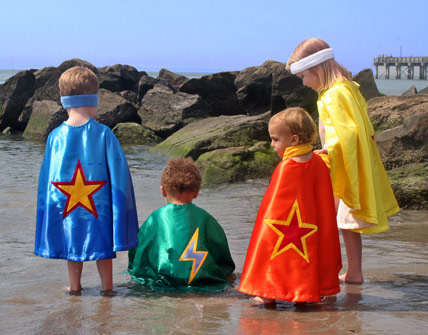 Beach Capes or superhero costumes? I mean, who wears a beach cape?