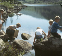 Kids love nature!