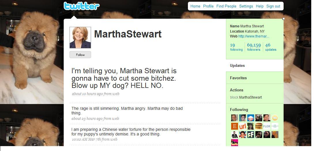 Martha does not fart around, bychez