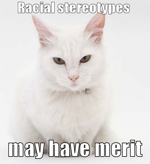 racial stereotypes may have merit