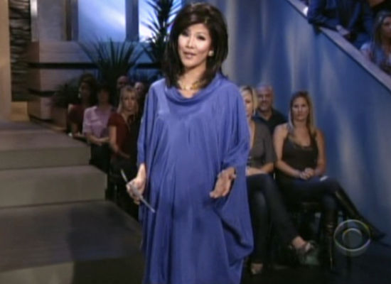 Julie Chen and Her Pregnancy Snuggie