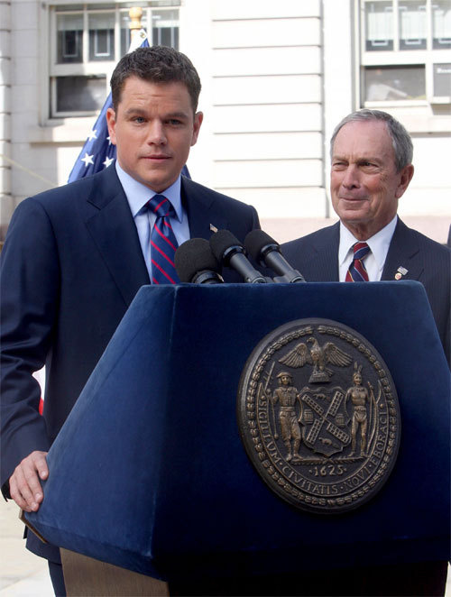 Matt Damon and Bloomberg