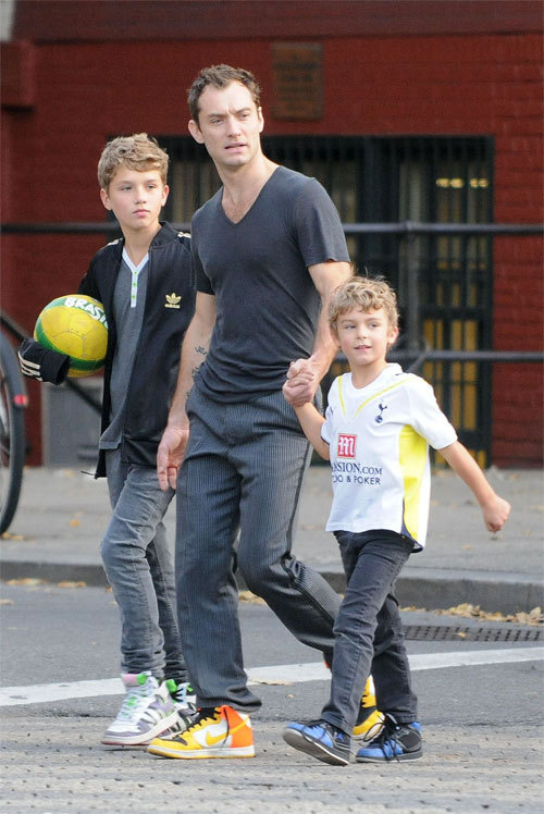 Jude Law and sons
