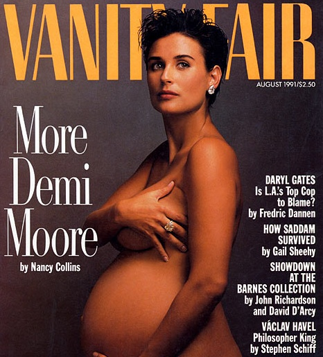 demi moore pregnant vanity fair