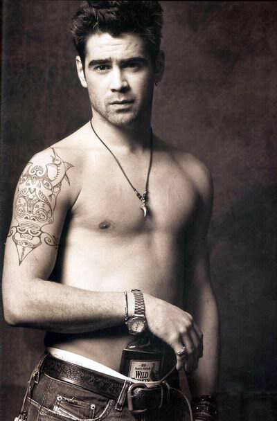Colin Farrell no shirt