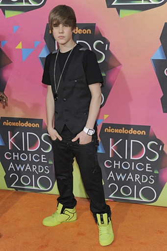 Justin Beiber Kids' Choice Awards