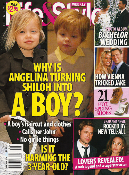 That Shiloh Jolie-Pitt has a short, cropped hairstyle and favors jeans over