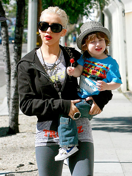 Christina Aguilera and son